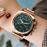 Rose Gold Milanese Steel Strap Watches