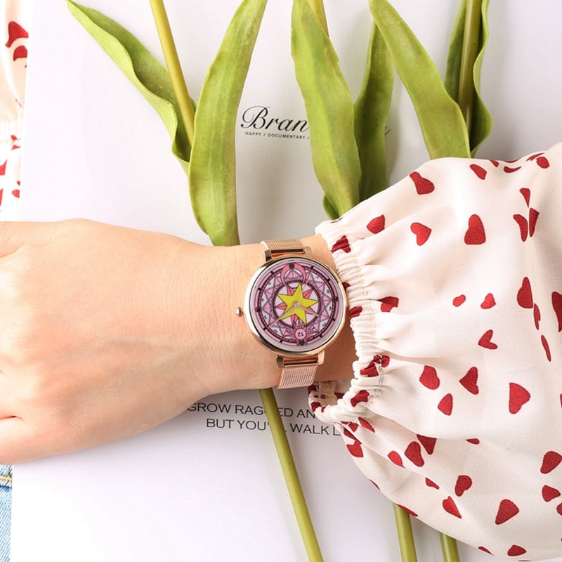 Popular Sailor Moon Pentagram Mesh Watch