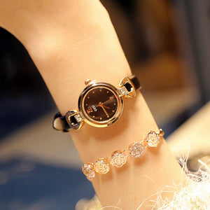 Luxury Leather Strap Bracelet Watch