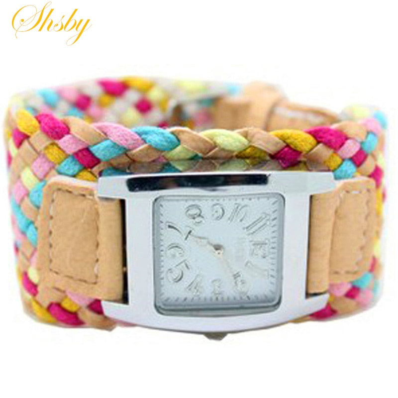 Bohemia Multi-colored Weaving Watch