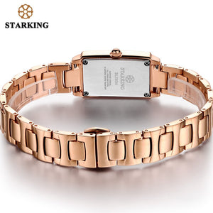 Stylish Rose Gold Stone Bracelet Watches
