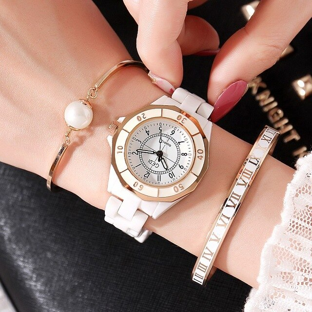 White Ceramics Luxury Watches