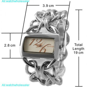 Elegant Double Clasp Chain Watches