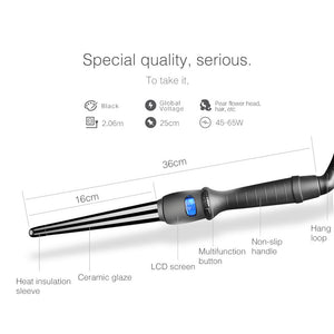 LCD Ceramic Hair Curler