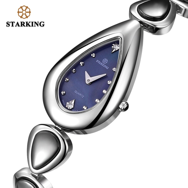 Stylish Crystal Stainless Steel Wristwatch