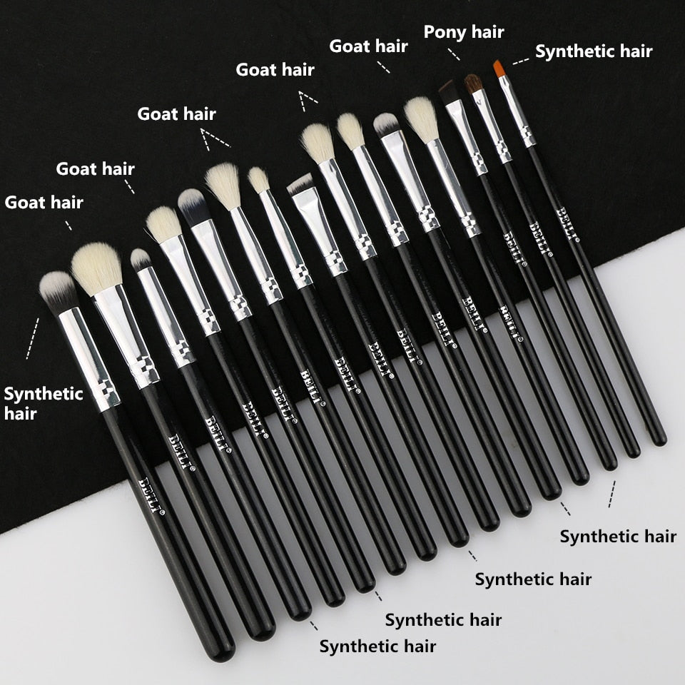 Natural Goat & Synthetic Hair Eye Brush Set