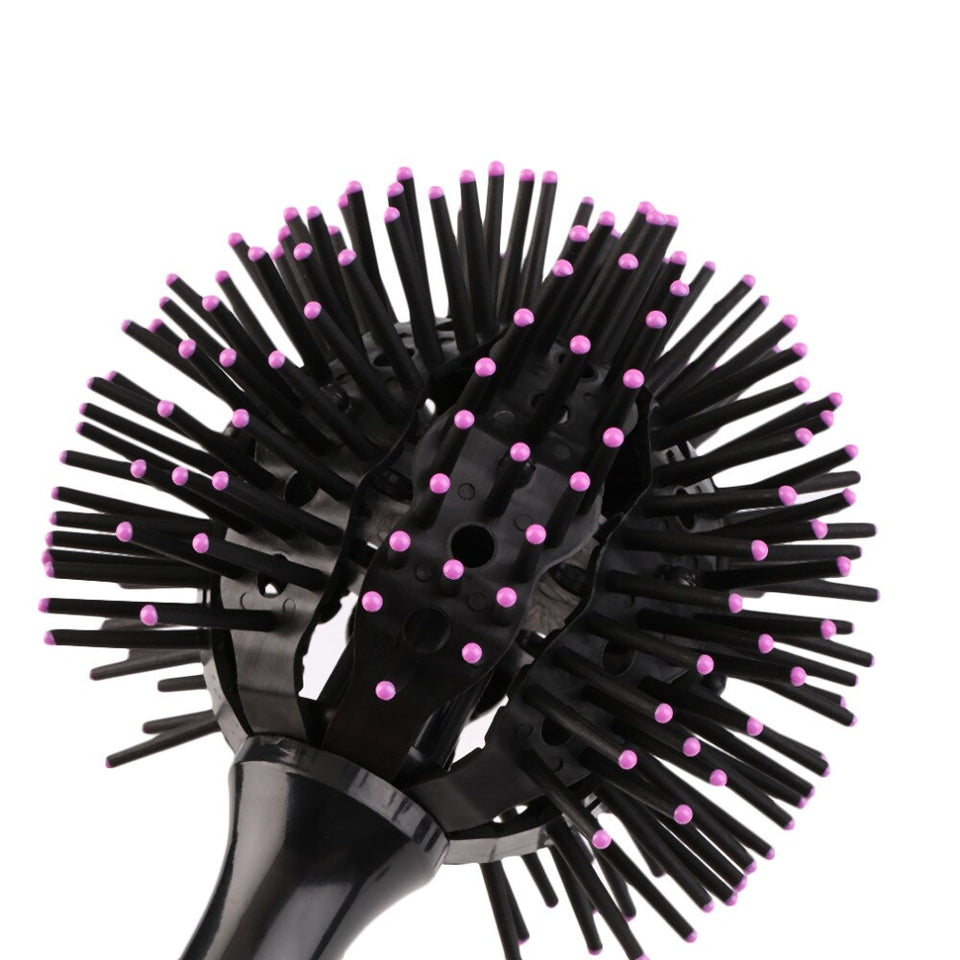 3D Round Heat Resistant Hair Brush