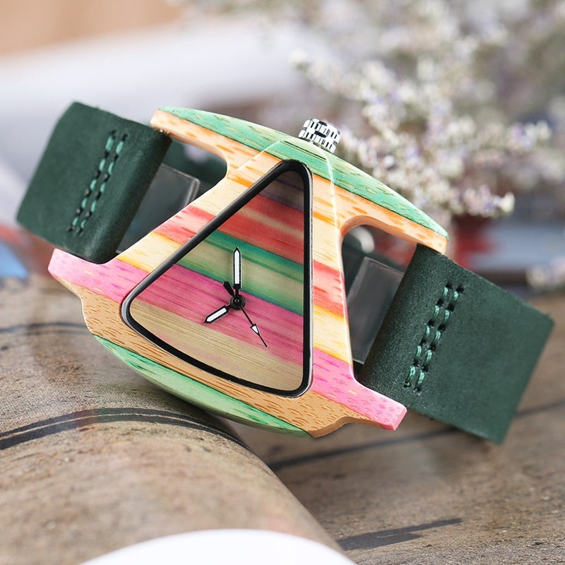 Unique Colorful Wood Creative Watches