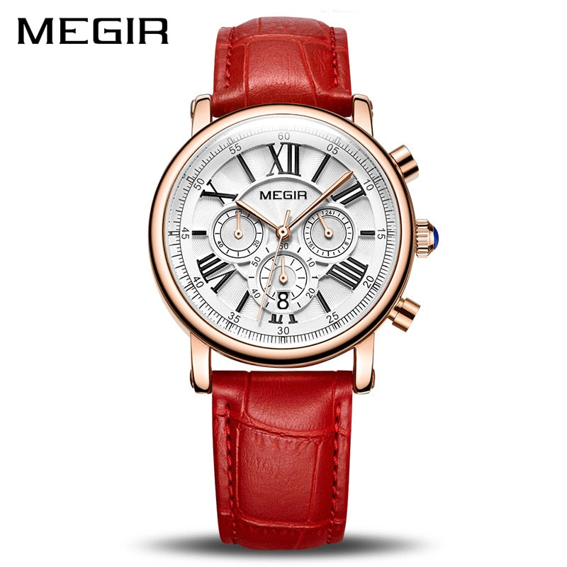 Luxury Leather Strap Watches