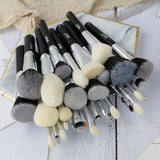 natural goat professional make up brush set