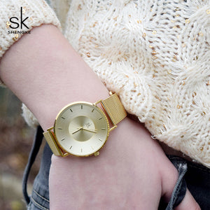 Luxury Gold Female Quartz Watch