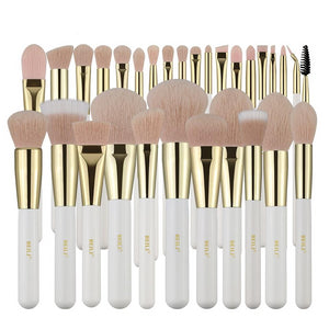 Pearl White Professional Nano Wool Makeup Brushes