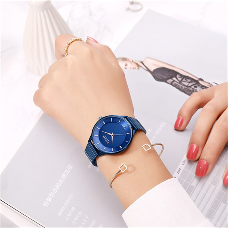 Rhinestone Stainless Steel Bracelet Watches