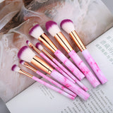 """FLD"" 10 Pcs Makeup Brushes Set"