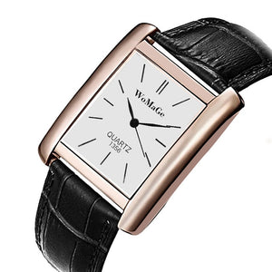 Rose Gold Leather Band Wrist Watches