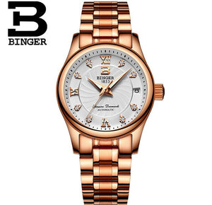 Business Women Crystals Dress Watches