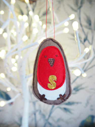 Personalised Robin Hanging Decoration