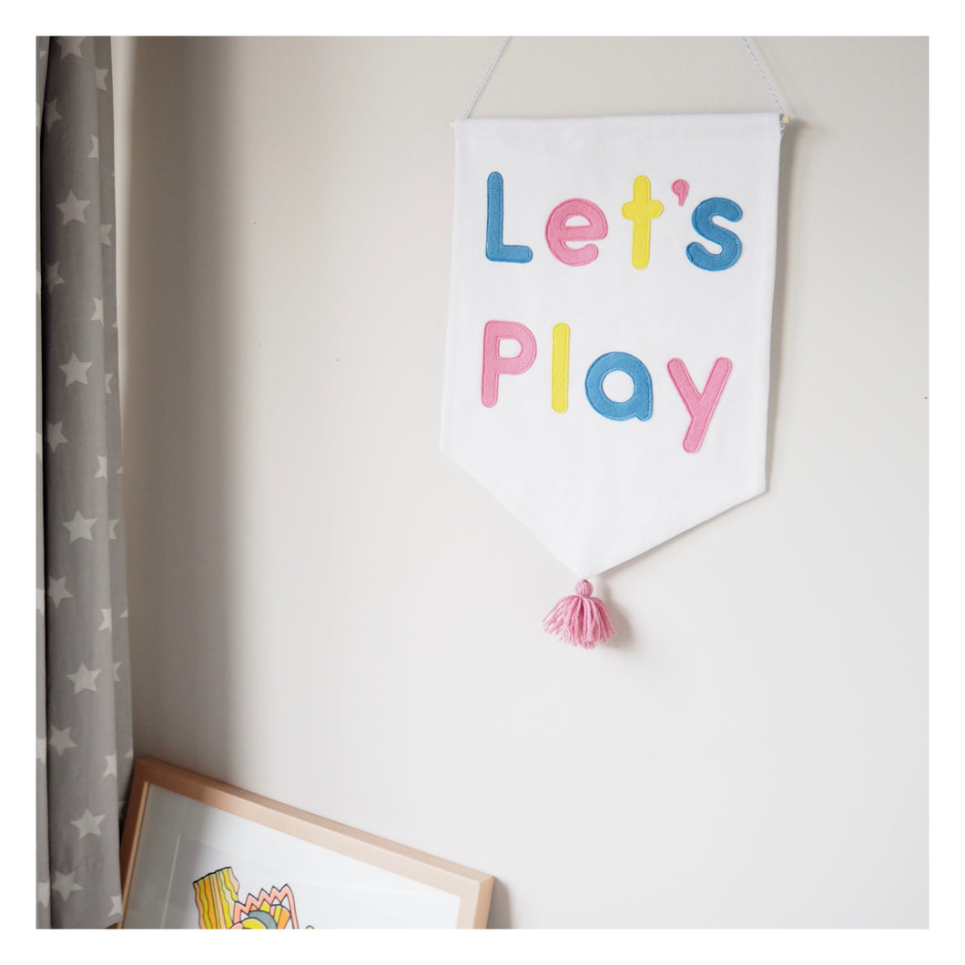 Let's Play Nursery Wall Hanging