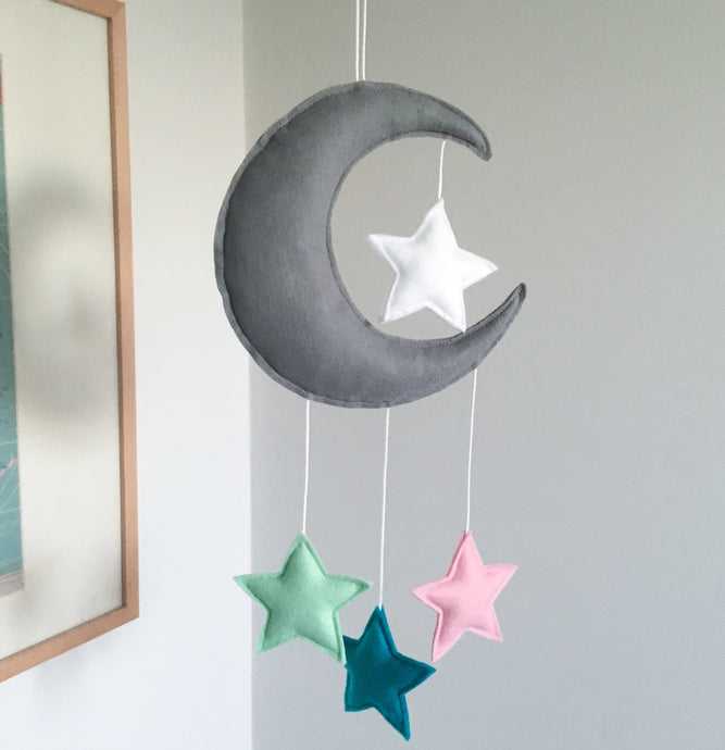 Moon And Stars Nursery Mobile