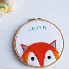 Cute Animal Embroidery Hoop Wall Art