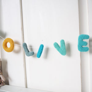 Personalised Name Nursery Garland