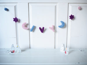 Personalised Moon & Stars Nursery Garland