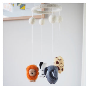 Safari Animal Handmade Baby Mobile