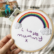 Personalised Message Hoop For Mum
