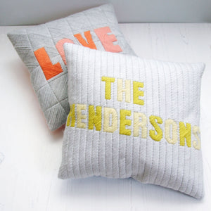 Personalised Name Wool Cushion