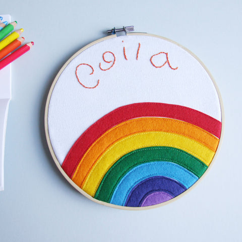 Personalised Name Rainbow Hoop