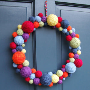 Wool Ball Wreath