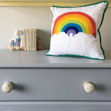 Personalised Rainbow Nursery Cushion