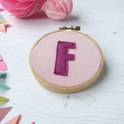 Personalised Initial Hoop