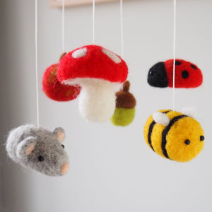 Garden Animal Handmade Baby Mobile