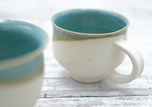 Set of Turquoise Mugs