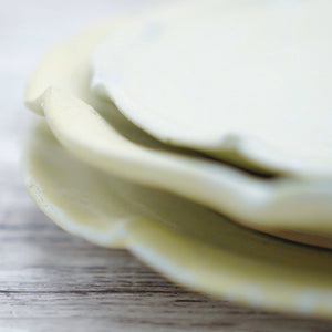 Set of 3 Pastel Yellow Plates