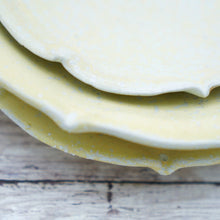 Load image into Gallery viewer, Set of 3 Pastel Yellow Plates