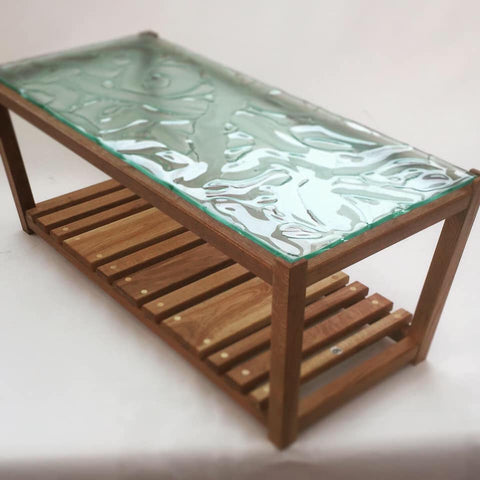 Glass table top darren scott design and escape glass collaboration