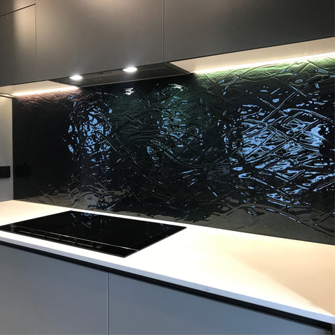 black splashback