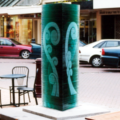 Esk Street Invercargill art installation glass work