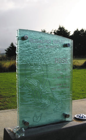 Headstone from glass invercargill southland