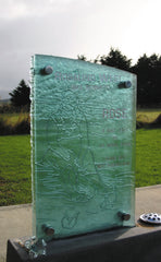headstone glass toughened NZ hand made custom made