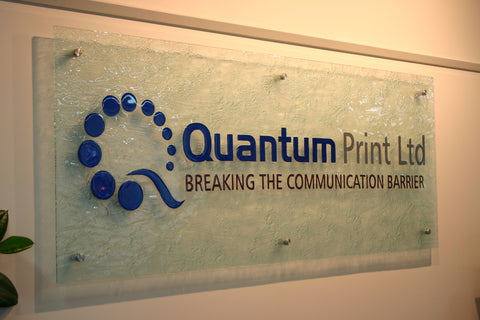 Quantum print custom wall art glass logo new zealand hand made commercial logos