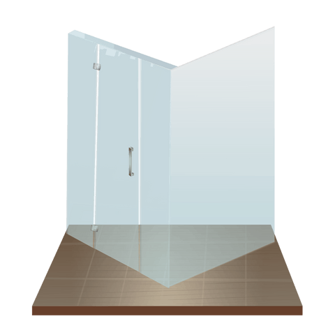 Corner shower - slumped or flat safety toughened glass - made in new zealand