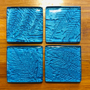 Turquoise glass coaster