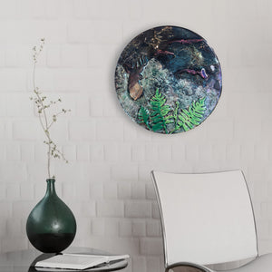 Kiwiana Disc Glass Art
