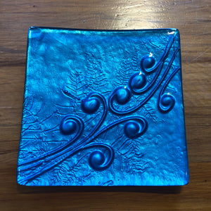 Turquoise Square Platter - Small