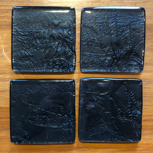 Black Fern Coasters - Set of 4