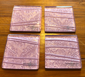 blush pink conformity printed glass coasters new zealand