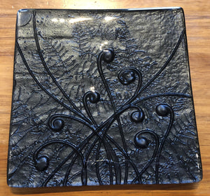 Black Square Platter - Medium